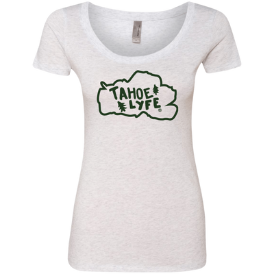 Tahoe Lyfe Green Logo Ladies' Triblend Scoop in 6 Colors