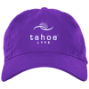 Tahoe Lyfe Modern White Logo Brushed Twill Unstructured Dad Cap