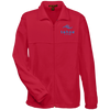 Tahoe Lyfe Blue Modern Logo Harriton Tall Men's Full Zip Fleece