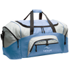 Tahoe Lyfe Modern White Logo Port & Co. Colorblock Sport Duffel