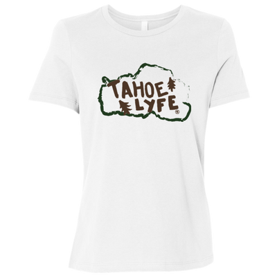 Tahoe Lyfe Rustic Bella + Canvas Ladies' Relaxed Jersey Short-Sleeve T-Shirt in 2 Colors