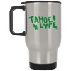 Tahoe Lyfe Silver Stainless Travel Mug in 18 Colors