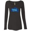Tahoe Lyfe Solid Blue Logo Ladies' Triblend Long Sleeve Scoop in 7 Colors