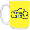 Tahoe Lyfe Blue Logo 15 oz. White Mug in 11 Colors