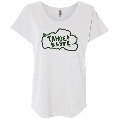 Tahoe Lyfe Green Logo Ladies' Triblend Dolman Sleeve in 6 Colors