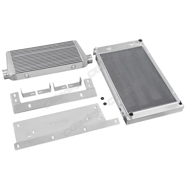Aluminium Radiator + Intercooler (68-72 Chevelle LSx + SBC Single Turbo)