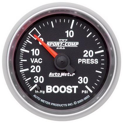 Autometer Sport-Comp II (52mm 30 PSI Mechanical Boost Vacuum)