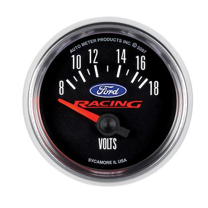 Autometer Ford Racing (52mm Electronic 8-18V Voltmeter)