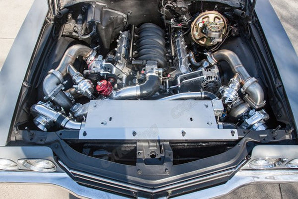 T4/VBand Twin Turbo Manifold + Downpipe Kit (68-72 Chevelle with LS Swap)