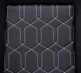 NRG FRP Bucket Seats Geometric Pads Black (Large)