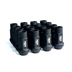 Street Series Forged Lug Nuts - Flat Black 12 x 1.5mm - Set of 20 (New Design)