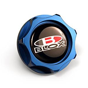 Billet Honda Oil Cap - Blue