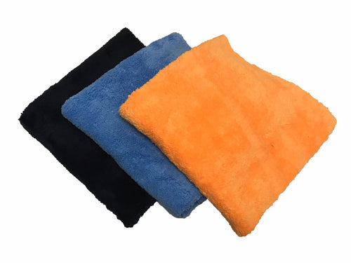 "One Dozen 16""X16"" Edgeless 365GSM Premium Microfiber Towels"