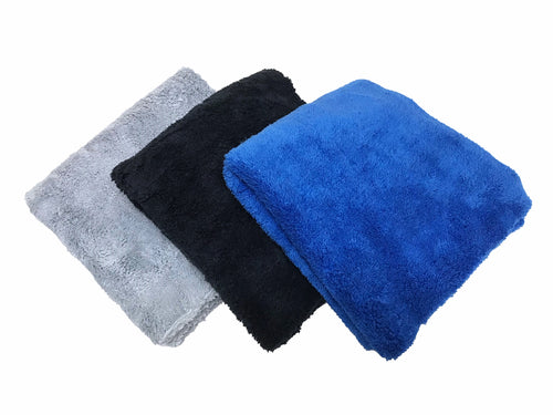 "One Dozen 16""x16"" Edgeless 500GSM Premium Plush Microfiber Towels"