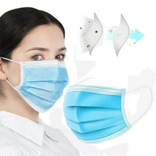 Load image into Gallery viewer, 3 Ply 50 Pack Disposable Surgical Face Mask