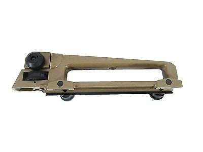 Two-Tone Adjustable Iron Sight Carry Handle - Black & Tan