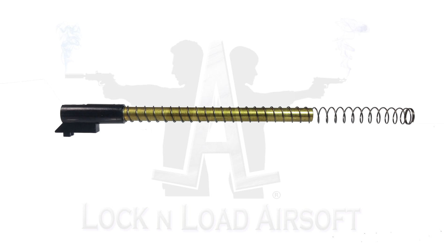Pure Brass Luger P08 Inner Barrel Replacement w/ Retention Spring