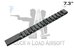"Full Metal 7.3"" Picatinny Weaver Rail 