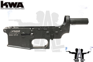 KWA Full Metal Lower Receiver  w/ Official KM4 SP-16 Trademarks