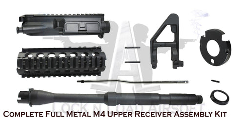 CLEARANCED: Full Metal M4 Quad Railed Upper Receiver Conversion Assembly Kit Replacement