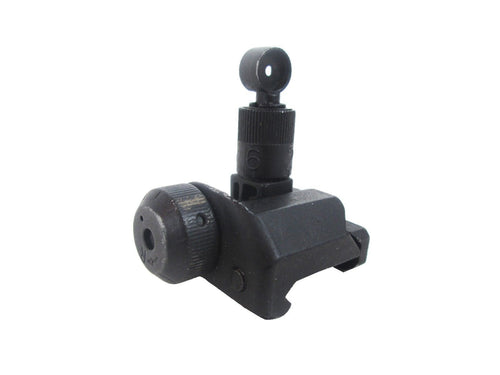 Full Metal SCAR Adjustable Flip Down Rear Iron Sight
