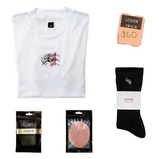 LOVER Angel Tee + Shoelaces + Socks
