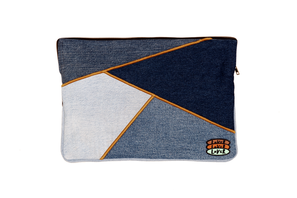 Upcycled Denim Laptop Case