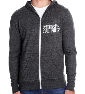 Embroidered Sherman Hill Neighborhood Light Weight Full Zip Hoodie - FREE SHIPPING
