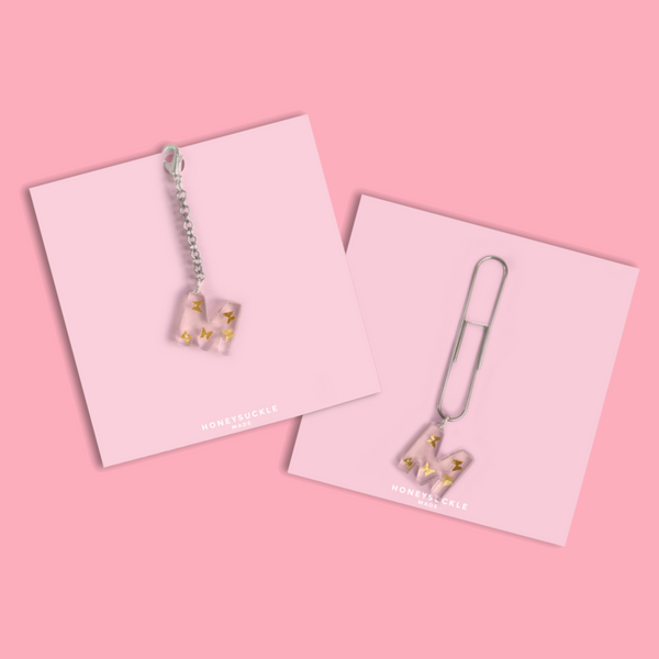 Small Gold Butterfly Letter Charm