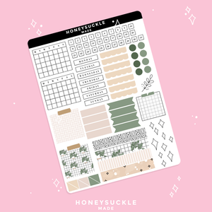 Minimalist Plant Bullet Journal Sticker Kit