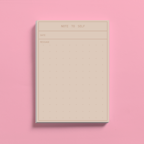 Brown 'Note to Self' Notepad