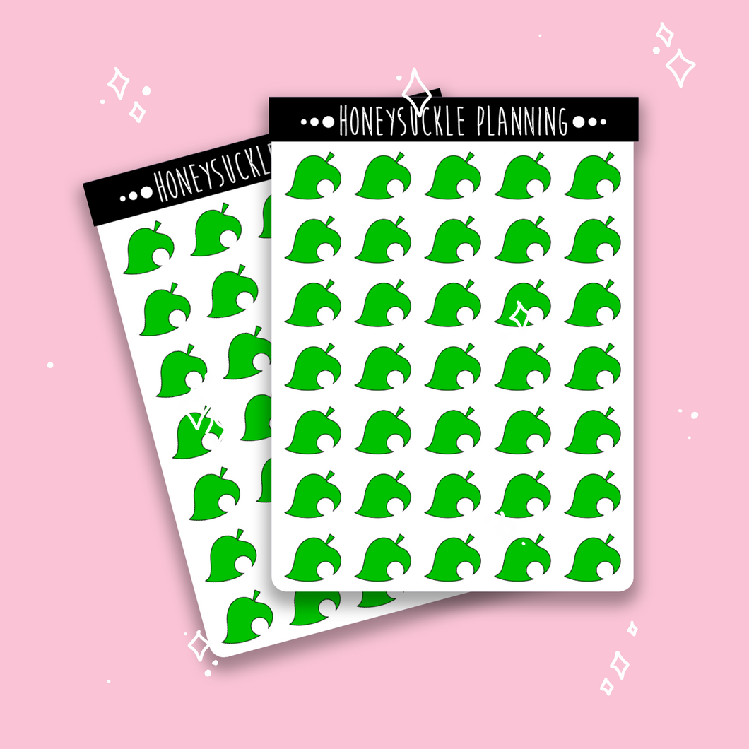 Animal Crossing Leaf Stickers