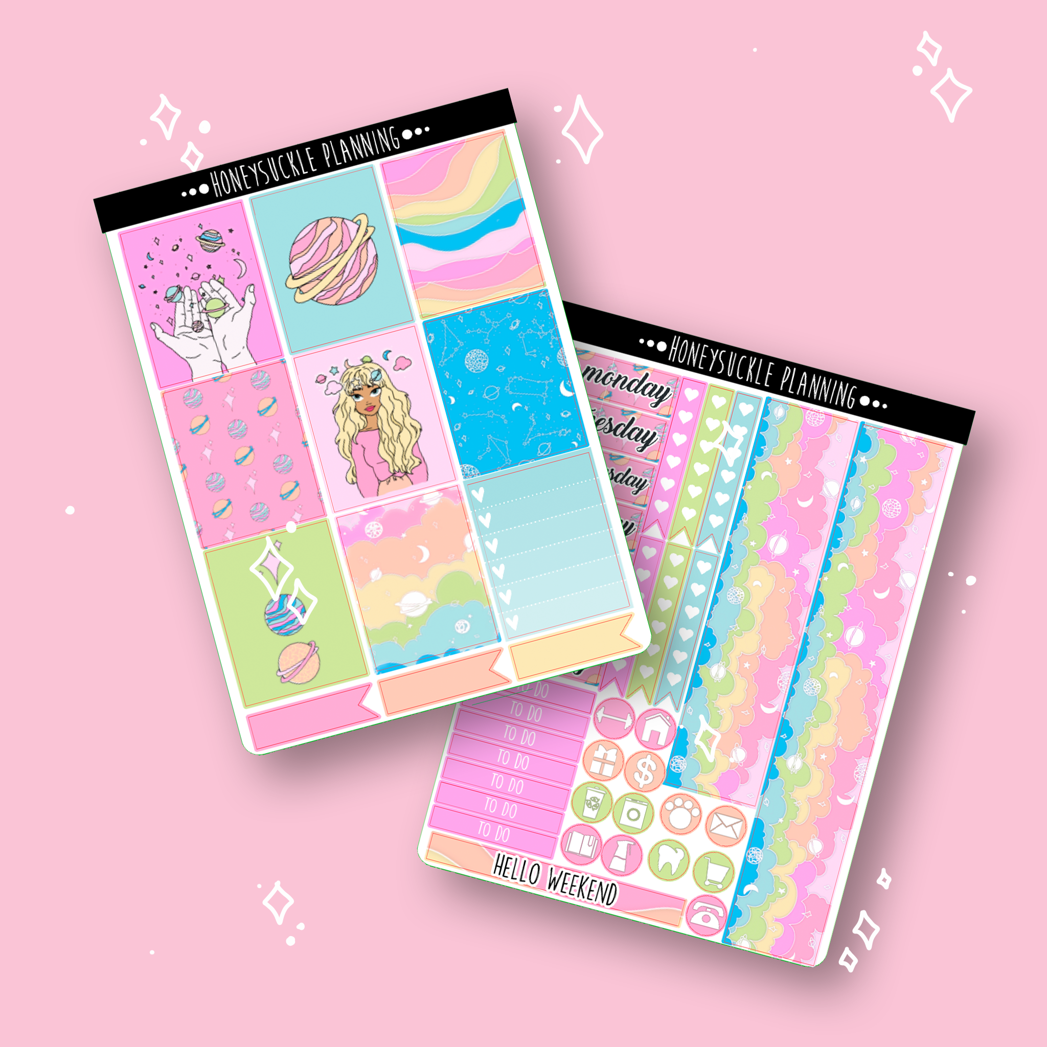 Rainbow Galaxy Weekly Sticker Kit