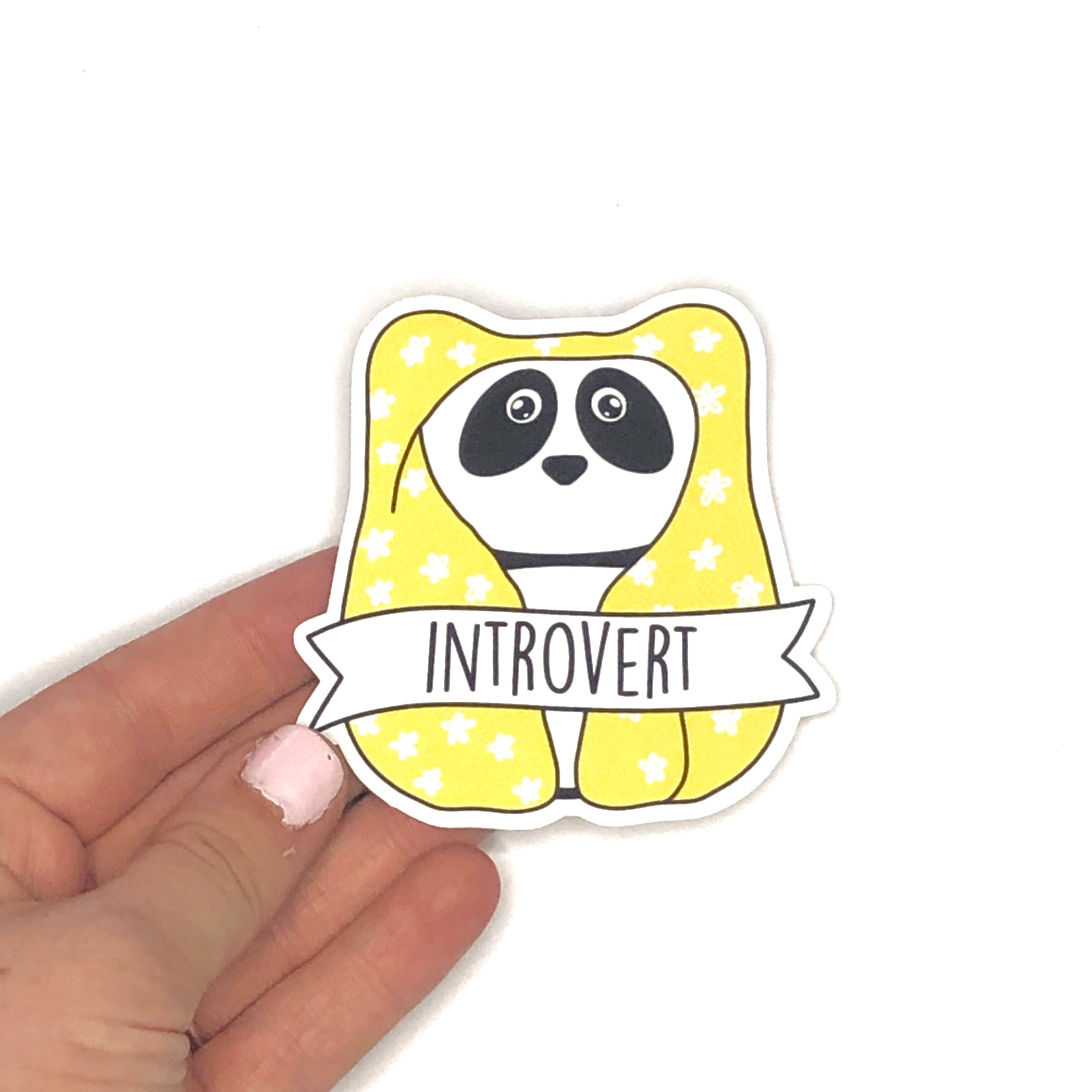 'Introvert' Matte Vinyl Decal