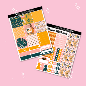 Boho Moth Weekly Sticker Kit