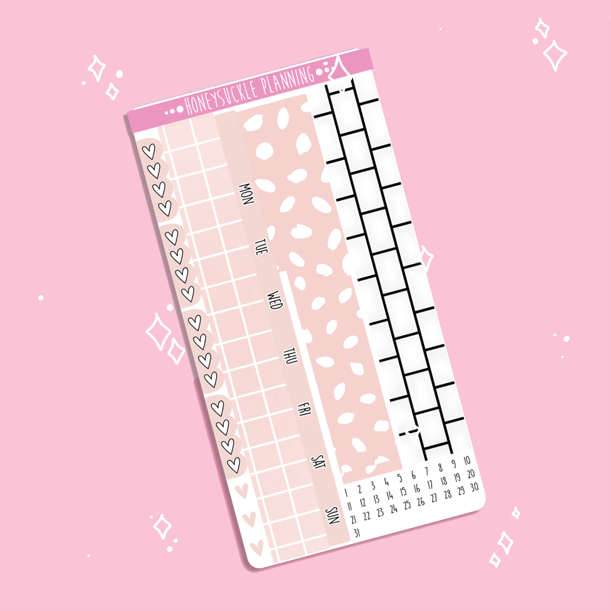 Blush Hobonichi Weeks MONTHLY Kit