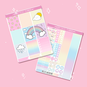 Open image in slideshow, Rainbow Weekly Sticker Kit