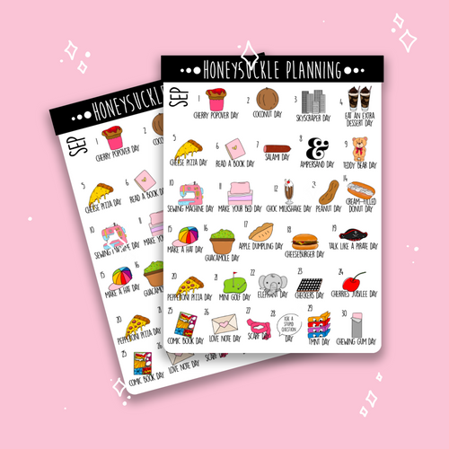 September 2020 Crazy Holiday Stickers