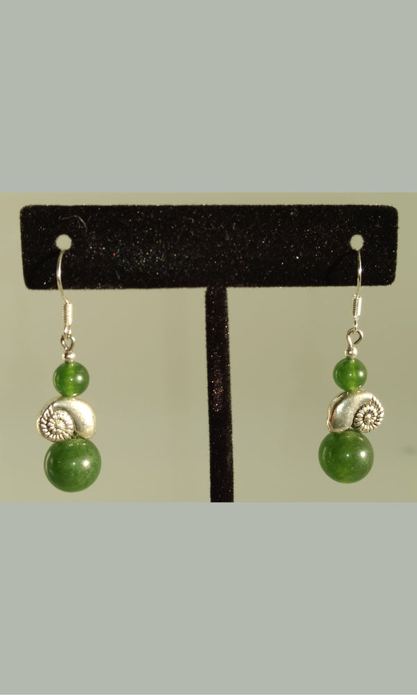 Jade with Shell Earring