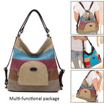 Magical Canvas Shoulder Bag That Can Turn Into Backpack - Red Deer Store