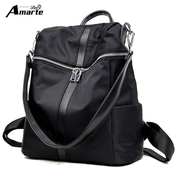 Retro Nylon Casual Backpack - Red Deer Store