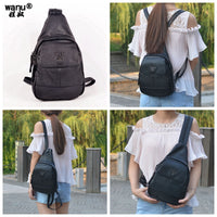 Women's Soft Leather Student Backpack & Messenger Bags