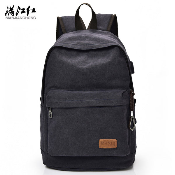 Men & Women Casual Canvas School Backpack - Red Deer Store