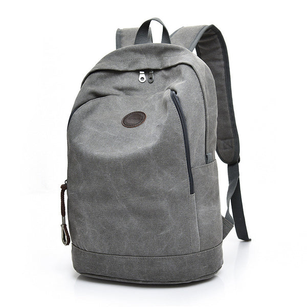 Men's Canvas Rucksack School/Travel Backpack - Red Deer Store