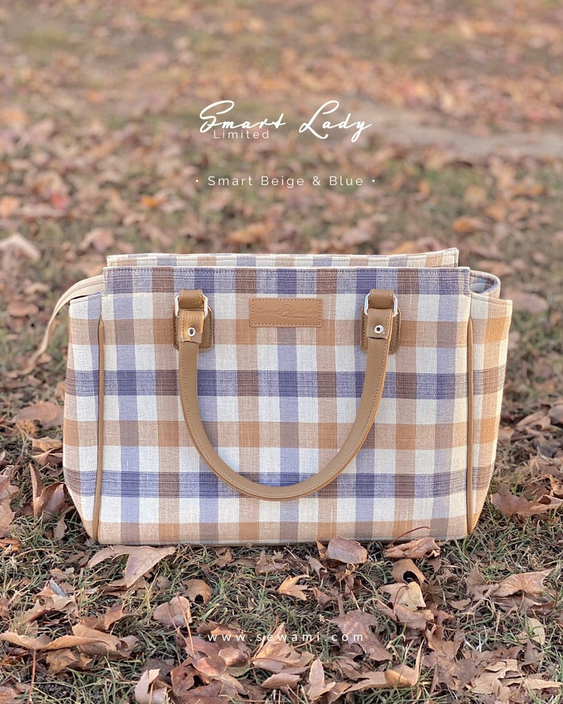 Smart lady - Brown & Blue