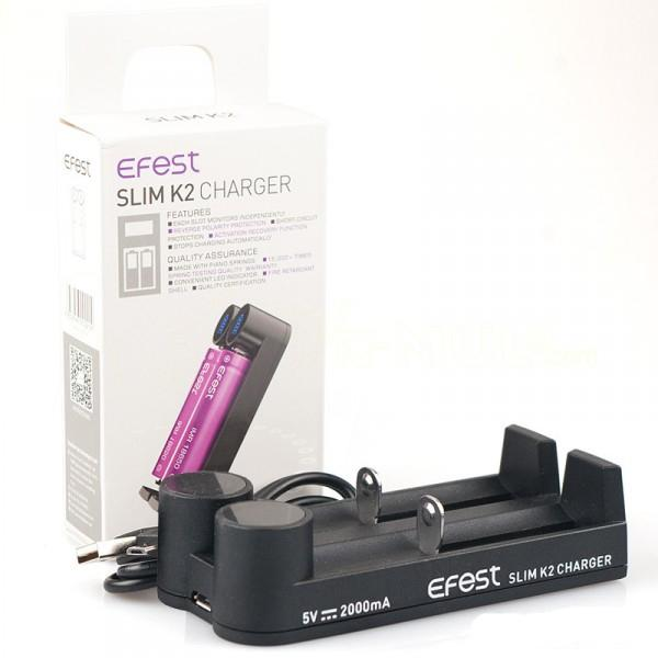 Efest SLIM K2 - LCD Screen - 2 Bay Battery Charger vape shop pros wholesale