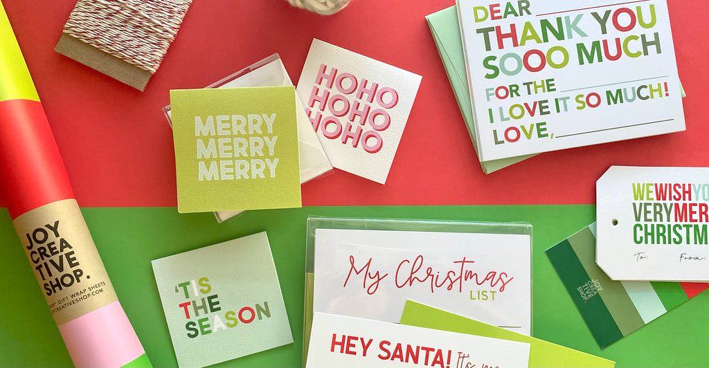 Personalized Stationery and Gift Wrap from Joy Creative Shop