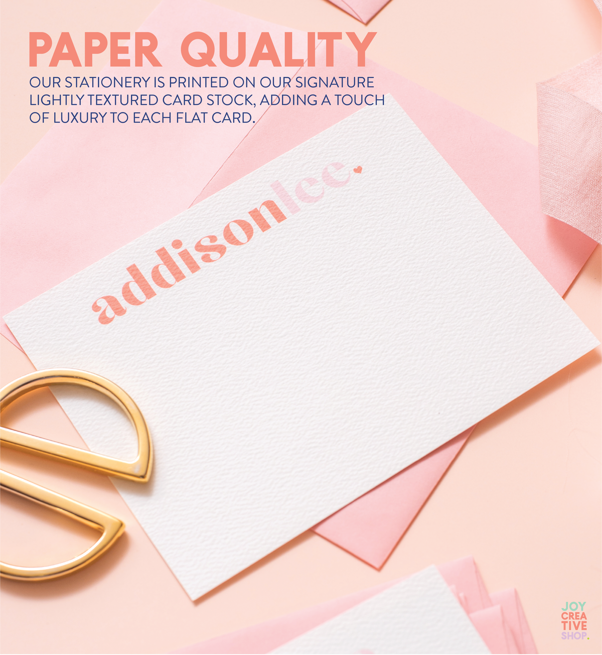 Kids Script Color Block Personalized Stationery