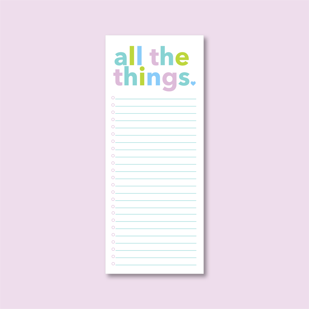 All the Things Notepad - Joy Creative Shop
