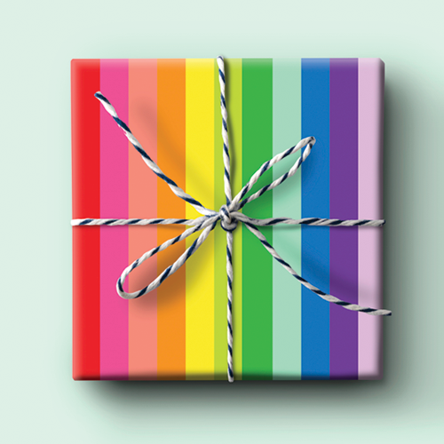 Rainbow - Thick Stripe Wrapping Paper